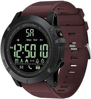 Walory Reloj Deportivo - Reloj Digital Deportivo Al Aire Libre para Hombres con Reloj Podómetro para iOS Y Android 50M Imp...
