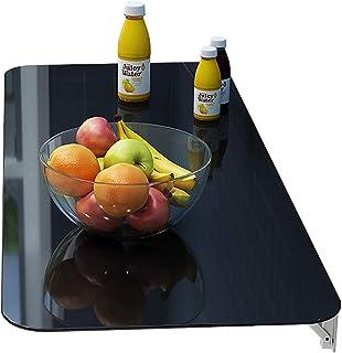 Table de Cuisine Rabattable Établi Table à Manger Murale, Bureau d'Ordinateur Table Murale Pliante Table Murale Rabattable...
