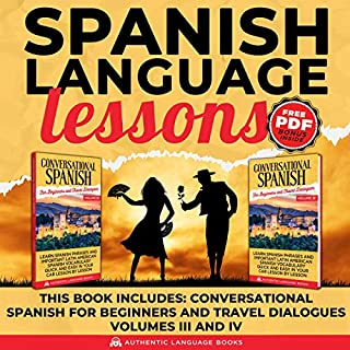 Spanish Language Lessons audiobook cover art