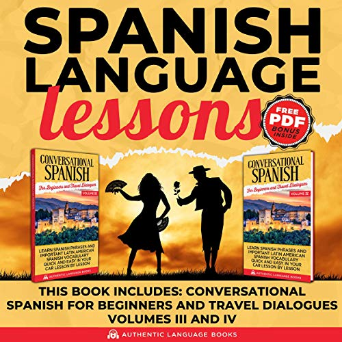 Spanish Language Lessons audiobook cover art