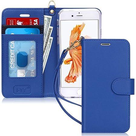 FYY Coque iPhone 6S, Coque iPhone 6, [Séries Haut de Gamme] Étui en Cuir PU de première qualité avec Coverture Toute-Puissante pour iPhone 6/6S Bleu ...