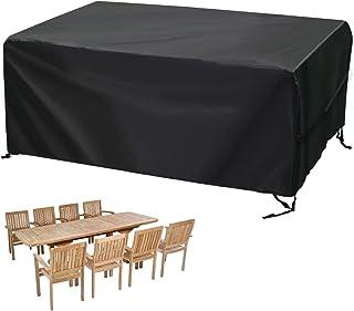 2 Colori Beige in Rattan 3 Misure Anti-UV Copertura Impermeabile per mobili da Giardino GDMING per Tavolo da Balcone e sedie Tessuto Oxford Antipolvere Forma Rotonda 68inx30in
