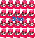 20 Pack Deluxe 16 Piece Makeup Gift Set for Women and Girls Assorted Glam Kit with Stylish Bag Wholesale Bulk Lot