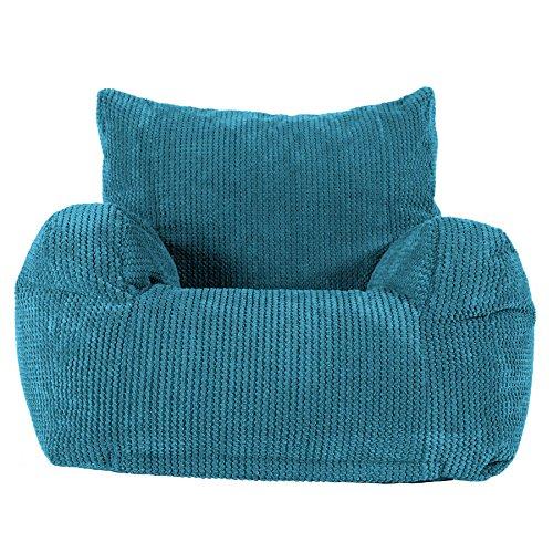 Lounge Pug®, Sitzsack Ohrensessel, Pom-Pom Türkis