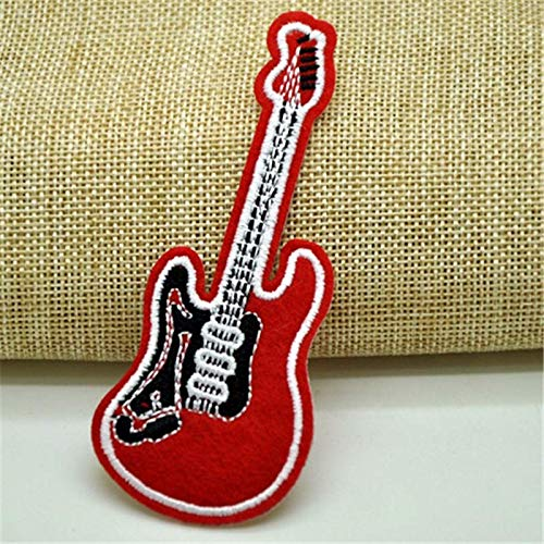 CAOLATOR. DIY Kleidung Patches Aufnäher Kleidung Applikation Gitarre Flicken Patch Aufbügeln Sticker für T-Shirt Jeans Taschen Schuhe Hüte