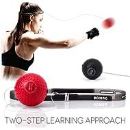 TEKXYZ Boxing Reflex Ball, 2 Difficulty Level Boxing Ball with Headband, Softer Than Tennis Ball,...