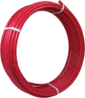 SharkBite U855R100 PEX Pipe 3/8 Inch, Red, Flexible Water Pipe Tubing, Potable Water, Push-to-Connect Plumbing Fittings, 100 Foot Coil