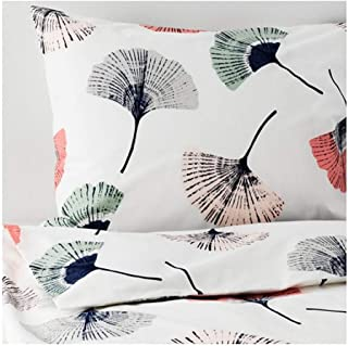 IKEA Tovsippa Duvet Cover and Pillowcases White Floral Patterned Size: Twin 503.996.29