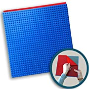 Creative QT Peel-and-Stick Baseplates - Self Adhesive Building Brick Plates - Compatible with All Major Brands - 10 inch x 10 inch