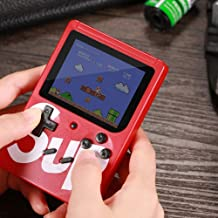 Amisha Gift Gallery Colorful LCD Screen USB Rechargeable Portable SUP Handheld Classic Retro Video Gaming Player Game Console with 400 in 1 Classic Old Games