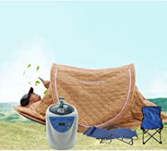 HEMFV Folding Bed Easy Storage Portable Steam Sauna Spa Full Body Slimming Loss Weight Detox Therapy Home Sitting Horizont...