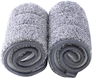Ms Asel Replacement Mop Pads, Microfiber Cleaning Pads for Squeeze Flat Mop, Set of 2