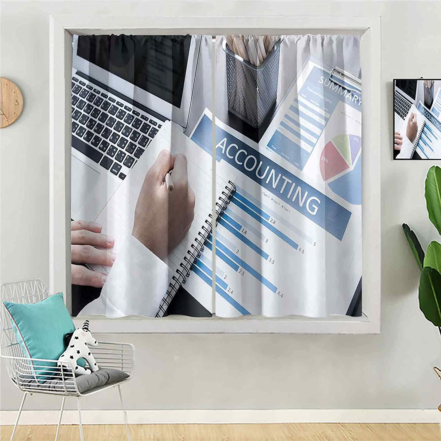 Blackout Curtain 63 inches Long Manufacturer OFFicial shop Outlet SALE for Panel Be Kids Window
