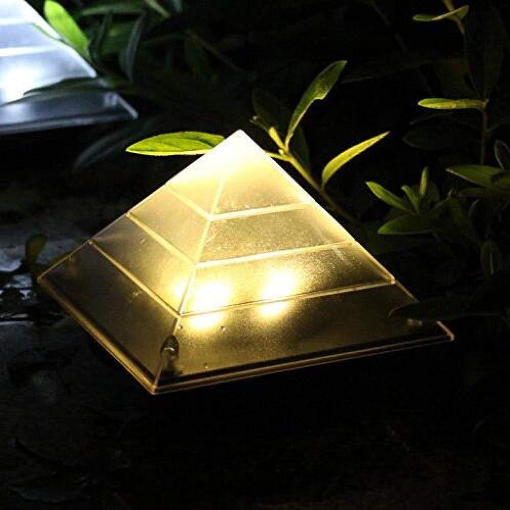 Pirámide Solar Luz Led Exterior Subterráneo Enterrado Camino Del Césped Luz Paisaje Decoración Patio, Escaleras Lámparas White3Pcs Cálidas: Amazon.es: Iluminación