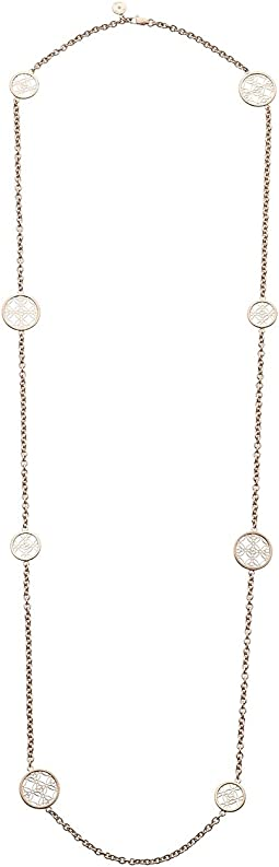 Monogram Disc Station Necklace