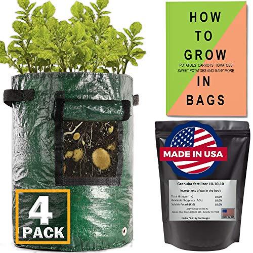 (4 Pack) Potato Grow Bags 10 Gallon...