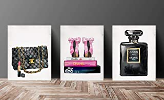 Set Wall Fashion Glam Art Poster Print Designer Brand