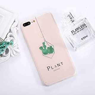 QFH For iPhone 8 Plus & 7 Plus Succulents Pattern TPU Dropproof Protective Back Cover Case new style phone case (Color : Color5)