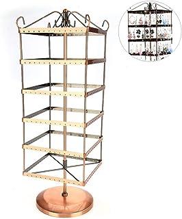 ExhibicióN Giratoria De 6 Capas De Pendientes, 288 Agujeros Pendientes Collar Pulsera Soportes De ExhibicióN Soporte para Colgar