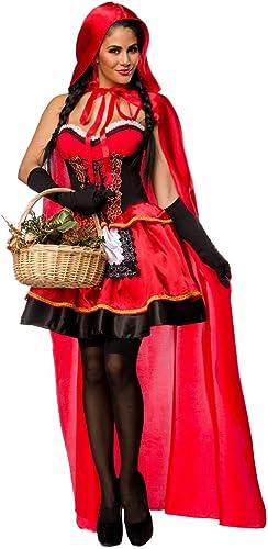 AT sexy Rotk chen Kostüm Karneval Set  Kleid, Umhang, Handschuhe, Größe S   , L      )