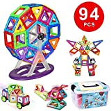 Flycreat Magnetic Building Blocks Toys Set, 94 Pcs Educational Construction Stacking Toys Intelligence