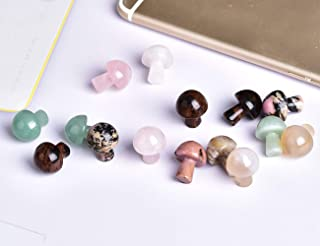AMOYSTONE Pcs Natural Mix Gua Sha Guasha Scraping Massage Tool Mushroom-Shape Guasha Board for Spa Relaxing, Mushroom Shape