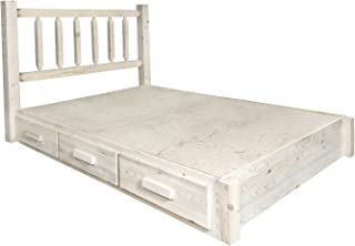 Montana Woodworks Homestead Collection King Platform Bed with Storage, Clear Lacquer Finish