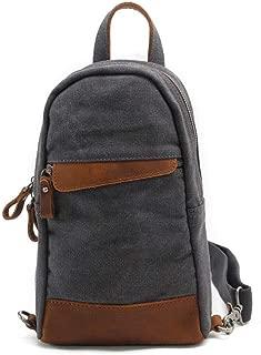 Mens Bag Five Color,Men's Casual Canvas Chest Bag Business Briefcase Handbag Shoulder Bag Travel Sports High capacity