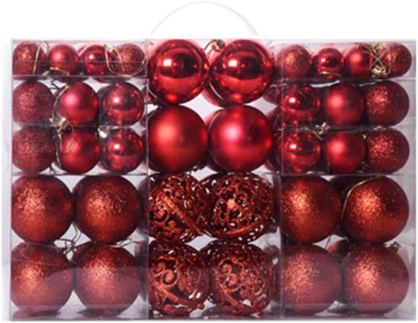 Super beauty product restock quality top Maserfaliw Christmas Ball Ornaments Solid 100Pcs Popular brand in the world Color