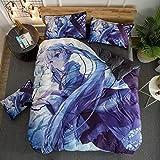GZZHF Adolescentes edredón Individual Almohada Cama Fresca Patines y la Pintada de la Cubierta del edredón Set en Trucos, poliéster-algodón (200 x 230 cm)