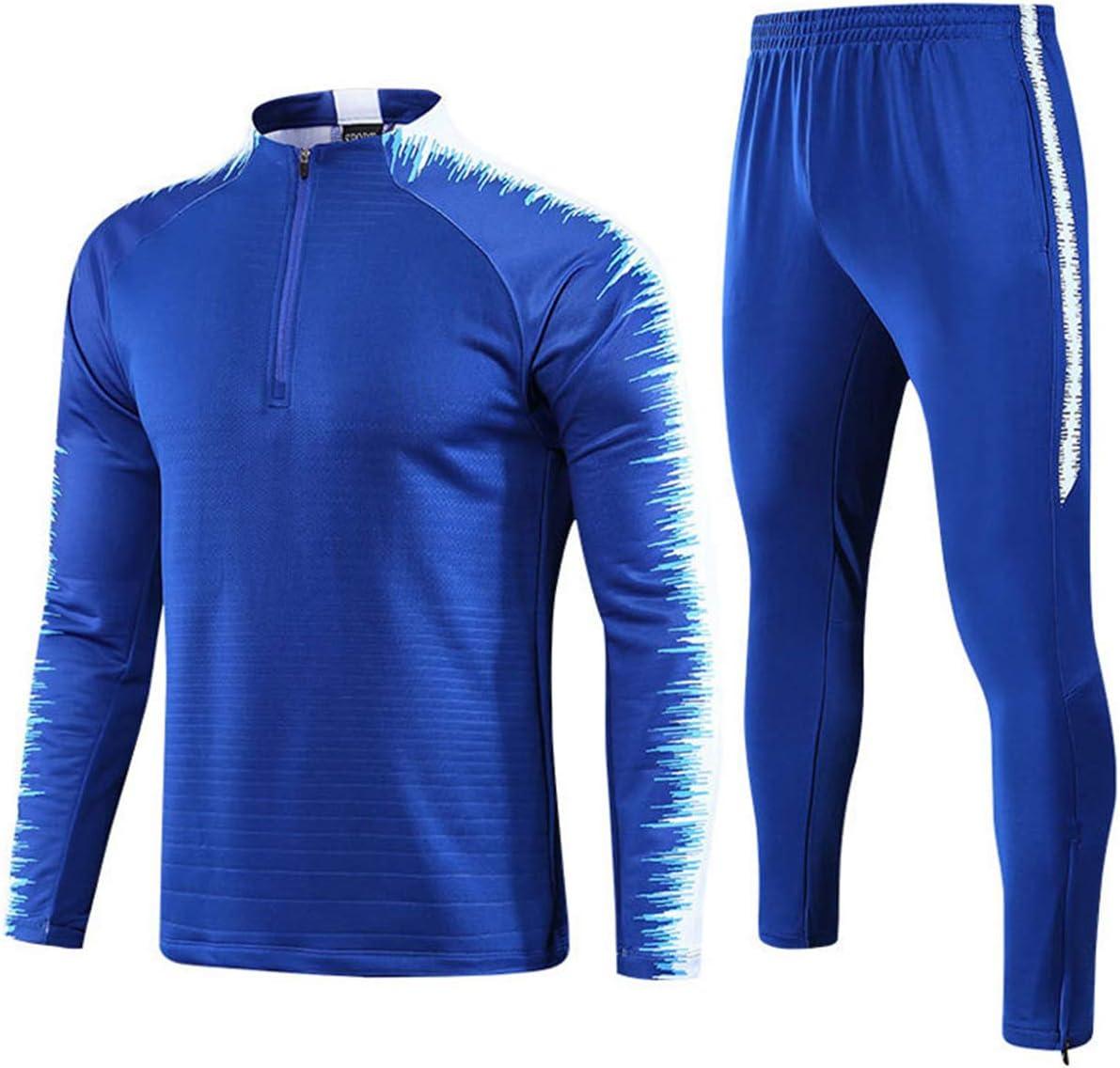 Conjunto de Entrenamiento de Camiseta de f/útbol de Manga Larga para Hombre ch/ándales completos Pantalones de Jogging Sudaderas de Gimnasia Conjunto de Entrenamiento Mikelabo