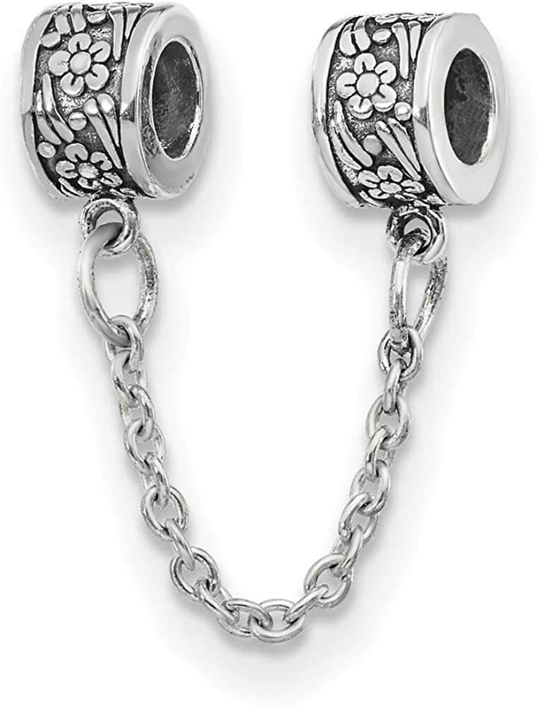 Black Bow Jewelry Sterling Silver Special price for a limited time Chain Bea Max 85% OFF Security Flower with