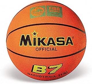 Color Naranja Mikasa Basketball BQ1000 Pelota de Baloncesto Talla 7 Outdoor, Indoor, Cuero