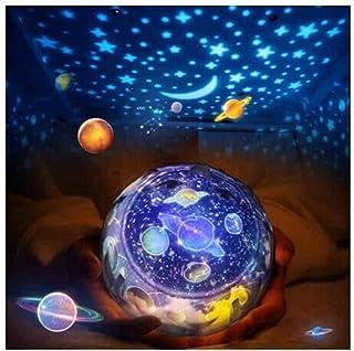 Lámpara de Proyector,FOHYLOY Noche Giratoria Proyector de Estrella Luz de noche de estrella con 3 modos y 5 patrones para la fiesta mágica y el dormitorio de los niños