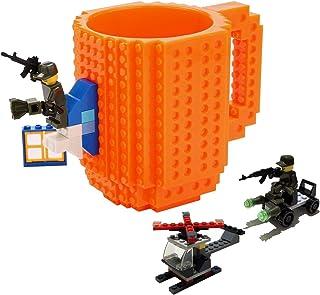 Fun Brick Mug-FUBARBAR Creative Building 12oz Coffee Cup, Build on Blocks Desk Drinkware, Funny Toy for Kid Birthday Gift,...