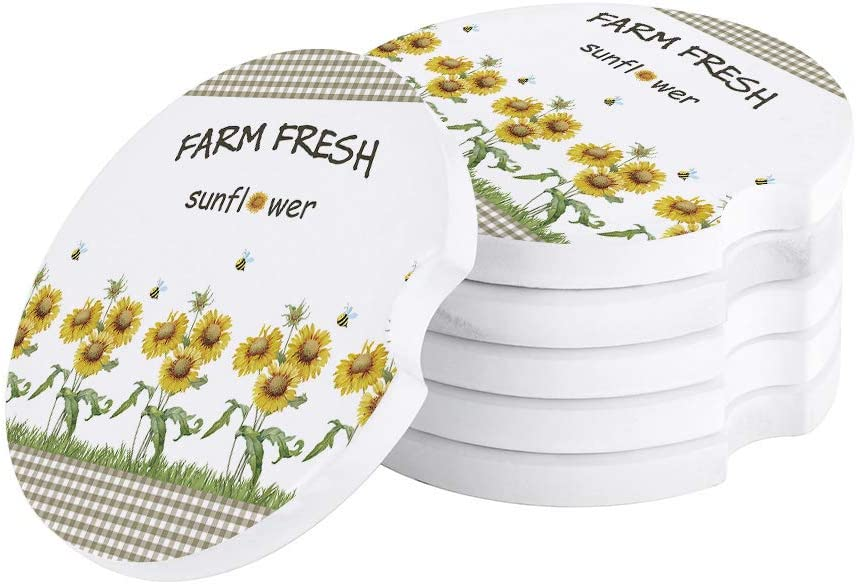 Farm Car Coasters Set of 6 with Cl Finger Notch shop Today's only for Easy Removal