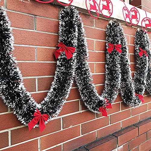 Fox·Bunny 32.8 Feet Christmas Shiny Tinsel Garland,...