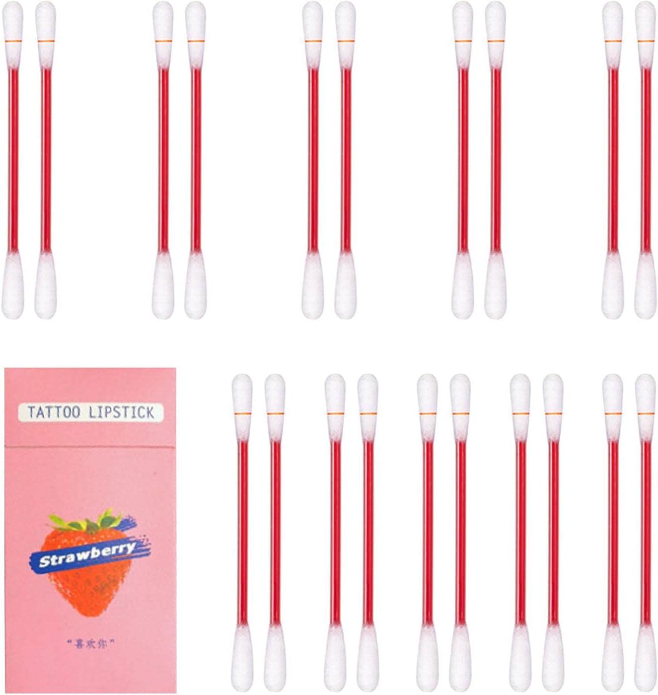 bestshop Lipstick Cotton Swab Max 77% OFF Tattoo 20PCS Non-Stick - online shop