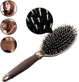 1 Pack Comb Hair Brush Combs Makeup Brushes Women Daily Using Bristle Mane Anti-Static Styling Tools Plastic Handle Combo Pocket Long Round Holder Good-looking Popular Beard Natural Girl Travel Kit
