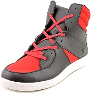 Renaissance Mens Highrise Black Red Sneakers Shoes Size 10.5