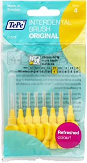 TePe Interdental Brushes 0.7mm Yellow - 1 Packets of 8 (8 Brushes) by TePe