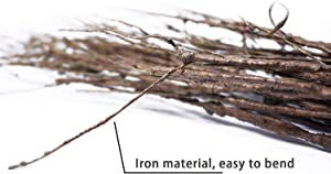 """Goodangie00 5Pcs 29.5"""" Lifelike Dry Willow Branches Bendable Iron Wires Artificial Floral Flower Stub Stem DIY Craft Wedding Home Room Office Hotel Hall Decoration"""