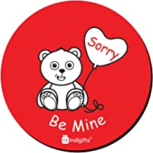 Indigifts Couple Magnet for Fridge Teddy Bear Feeling Sorry Red Fridge Magnet 3.5X3.5 Inches - Love Magnets, Gifts for Boyfriend, Gift for Girlfriend, Teddy Bear Magnets, Love Fridge Magnets