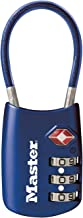 Master Lock 4688D Set Your Own Combination TSA Accepted Luggage Lock 1 Pack Blue