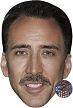 Nicolas Cage (Moustache) Celebrity Mask, Card Face and Fancy Dress Mask