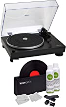 Audio-Technica at-LP5 Direct-Drive Turntable (Black) with Knox Gear Vinyl Record Cleaner Kit (2 Items)