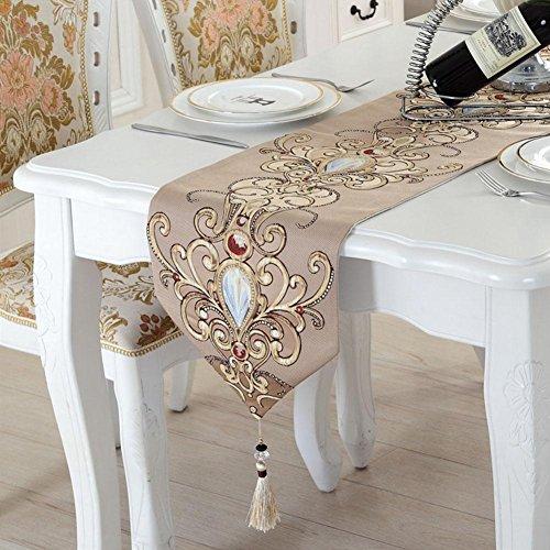 LXZ Chemins De Table, Vintage Chemin De Table À Toile Flanelle Lin Jacquard De Jute Et Burlap De Table Décoration Pour Maison Mariage , C , 33X250Cm