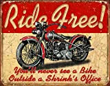 Desperate Enterprises Ride Free Tin Sign, 16' W x 12.5' H