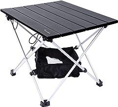 Draagbare campingtafel, Sportneer Lichtgewicht klaptafel met aluminium tafelblad en draagtas, prefect voor dineren, snijde...