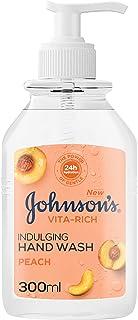 JOHNSON'S Vita-Rich, Indulging Hand Wash, Peach, 300ml
